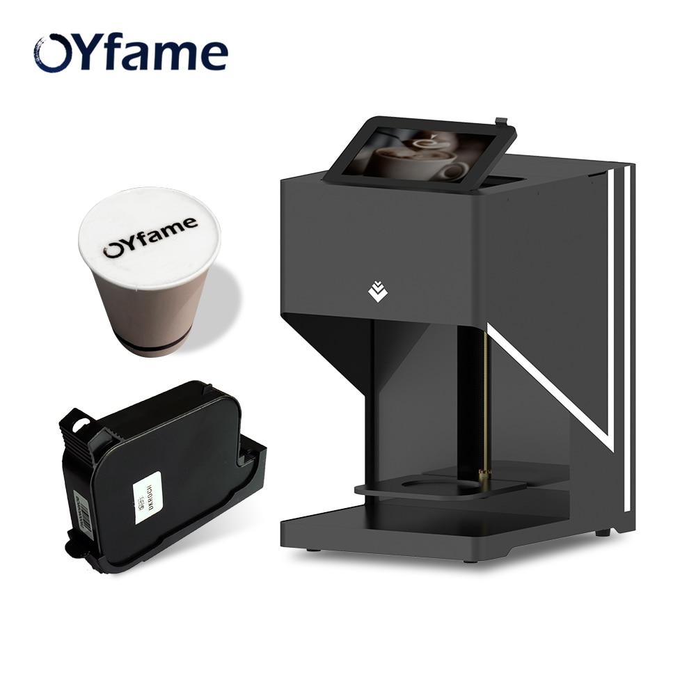 OYfame Art impresora de café Latte impresora de café impresora automática arte bebidas comida café selfie con impresión de conexión WIFI