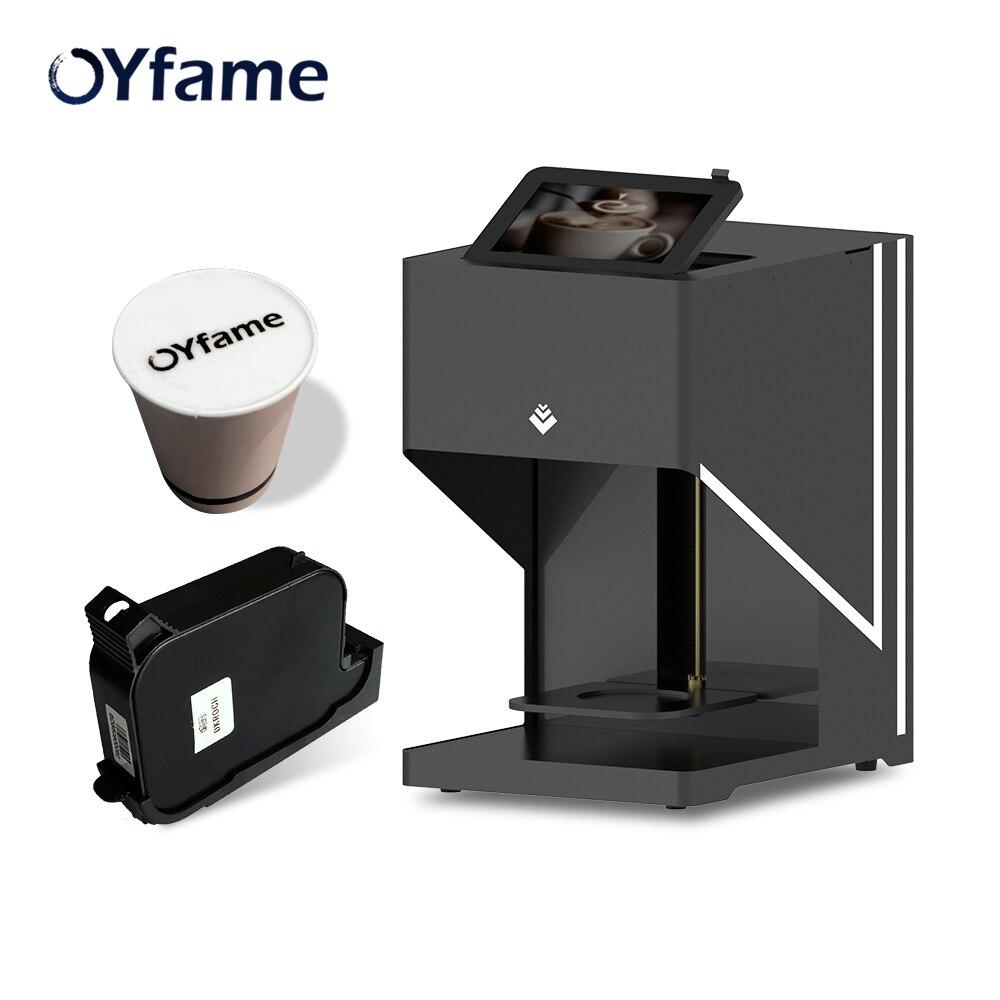 OYfame Arte Impressora impressora impressora automática De Café Latte Art Café Bebidas Alimentos selfie impressão café com conexão WI-FI