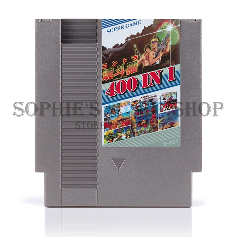 400 In 1 No Repeat Game Card With game Contra Spider Man Turtle Fighters For 72 Pins 8 Bit Game Console