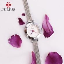 Julius Girls's Watch Mini Small Japan Quartz Kids Hours High-quality Trend Metal Clock Leather-based Bracelet Woman's Cute Present Field