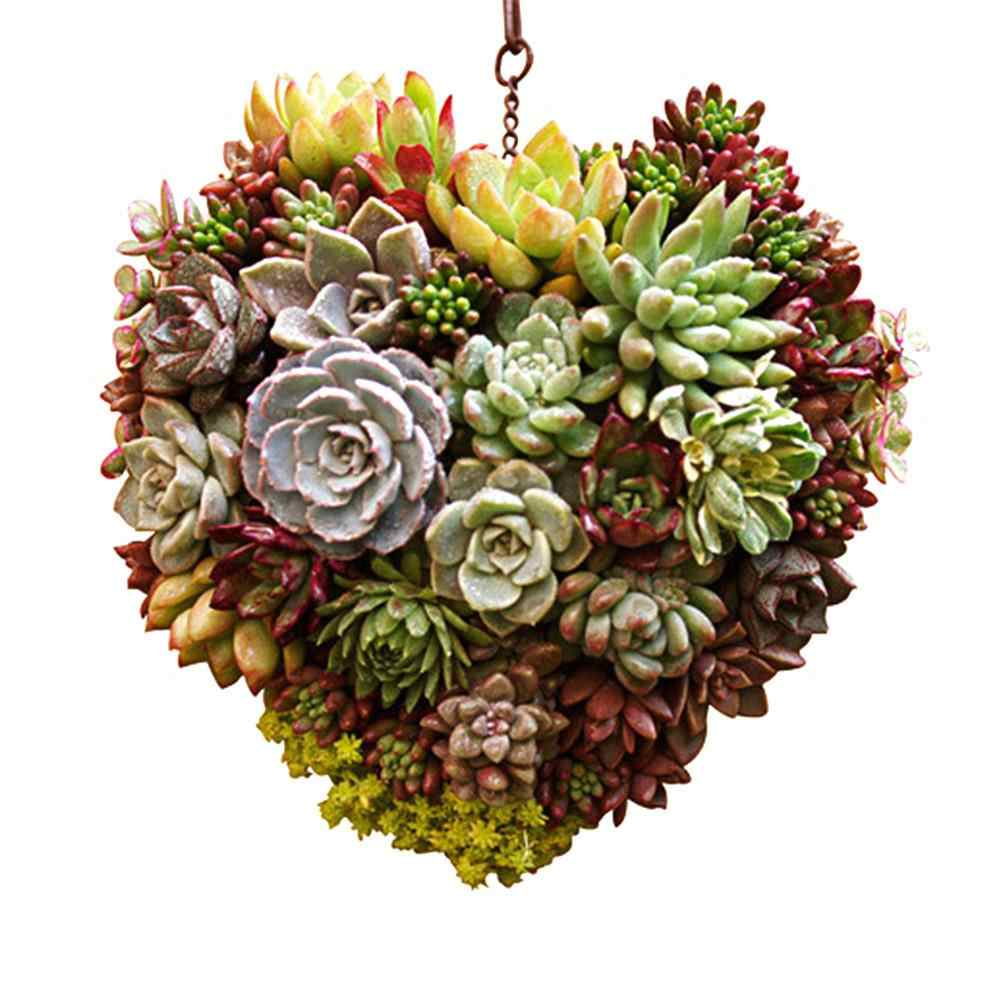 Innovative Heart Shaped Handmade Flowerpot Succulent Plants Flowers Pot Suculentas Plant Stand Garden Decoration