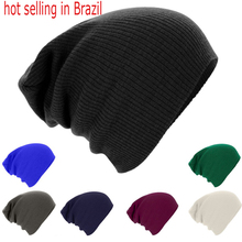 2016 New Winter Solid Color Knitted Beanie Skullies & Beanies Hat Bonnet Cap Skullies Hats Beanies Stocking Gorros For Men Women