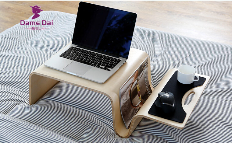 Mutifunctional Modern Bentwood Table For Breakfast, Magazine Living Room Furniture Coffee Side End Table For Laptop, Computer breakfast for champions