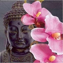 New 100% Orchid diy Diamond Painting Buddha Cross Stitch crafts Mosaic 5D DIY Embroidery home decor needlework