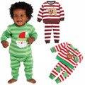 De la NUEVA historieta niños pijama niños ropa de dormir muchachos muchachas de la navidad de la familia de dormir pijamas niño pijamas del bebé Al Por Menor 2 t-6 t