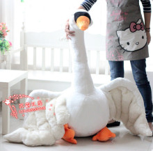 huge lovely plush swan toy white big swan doll gift about 100cm 550