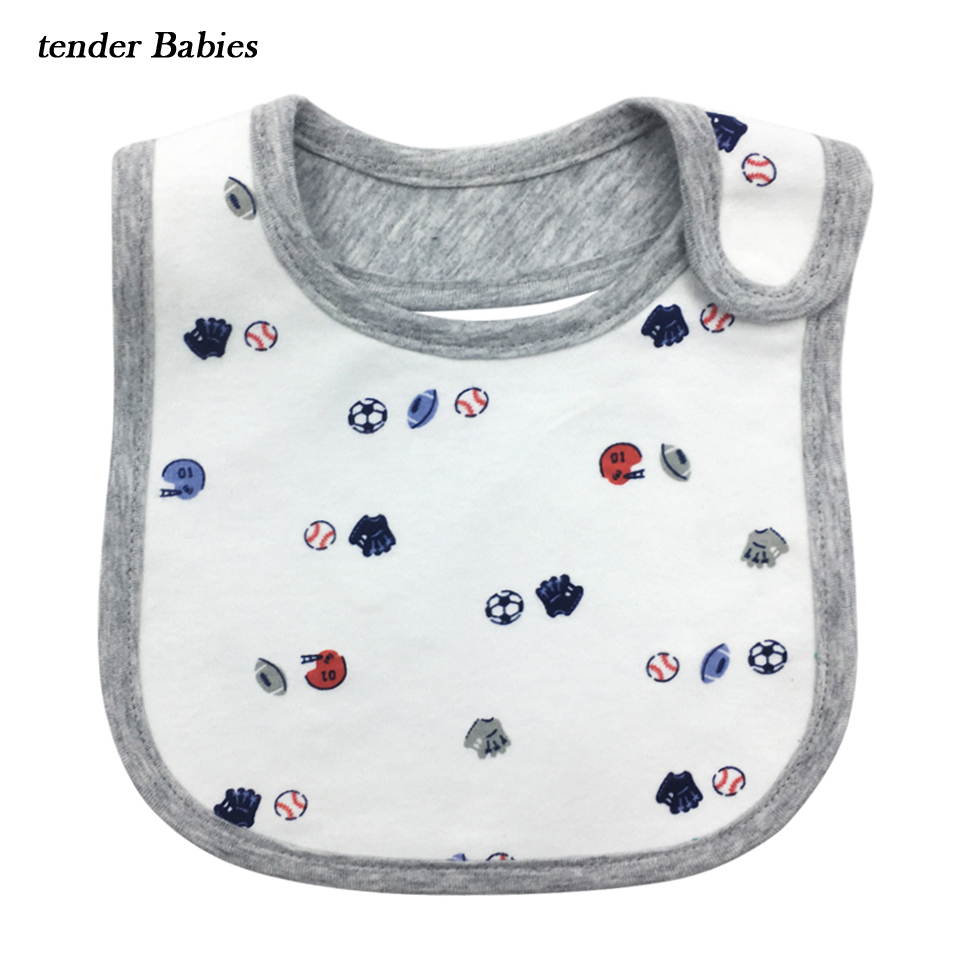 Cotton Baby Bib Waterproof Bibs Toddler Infant Saliva Towels Apron Burp Cloths Feeding Newborn Wear Cartoon Accessories cotton