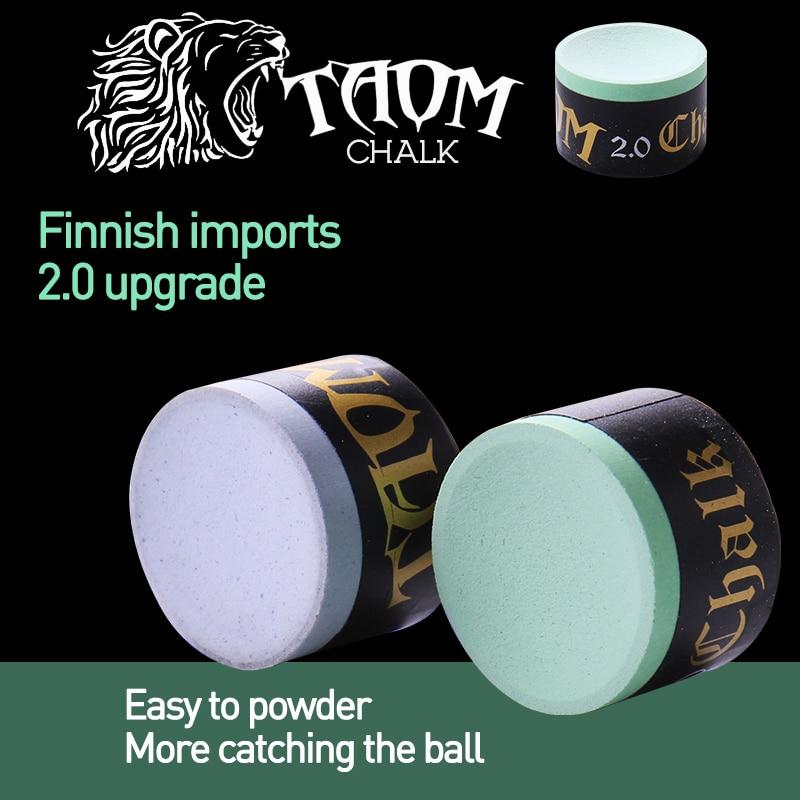 Original TAOM Chalk Round Blue Green Colors Billiard Chalk Pool Chalk Billiard Accessories Snooker Chalk Professional Cue Chalk