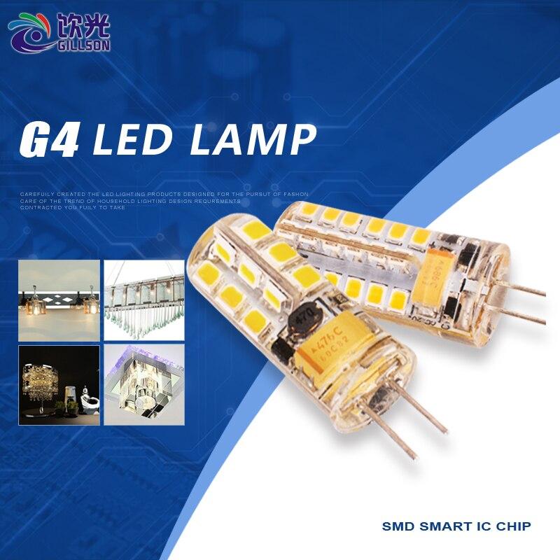 GILLSON 2.5W/5W G4 LED Light Bulb SMD 2835 Mini Corn Lamp AC/DC 12V Carlight Pendant Wall Ceiling Lamp Light Source 4pcs/lot