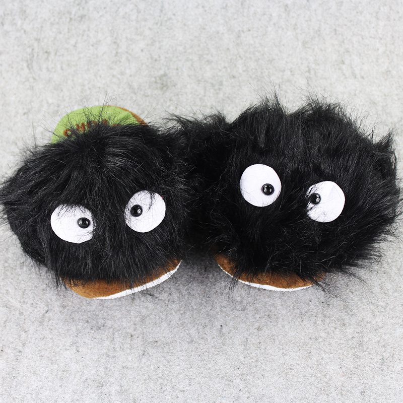 1 Pair 27cm My Neighbor Totoro DustBunny Miyazaki Hayao indoor Slippers Plush Shoes Warm Winter Adult