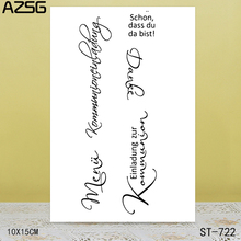AZSG Word Art Clear Stamps/Seals For scrapbooking DIY Card Making/Album Silicone Decoration crafts 10*15cm