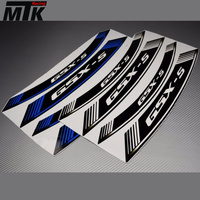 MTKRACING 8X Motorcycle For SUZUKI GSXS750 GSX S1000 GSX S250 GSXS150 Inner Rim Decals Wheel Stickers Stripes Strips