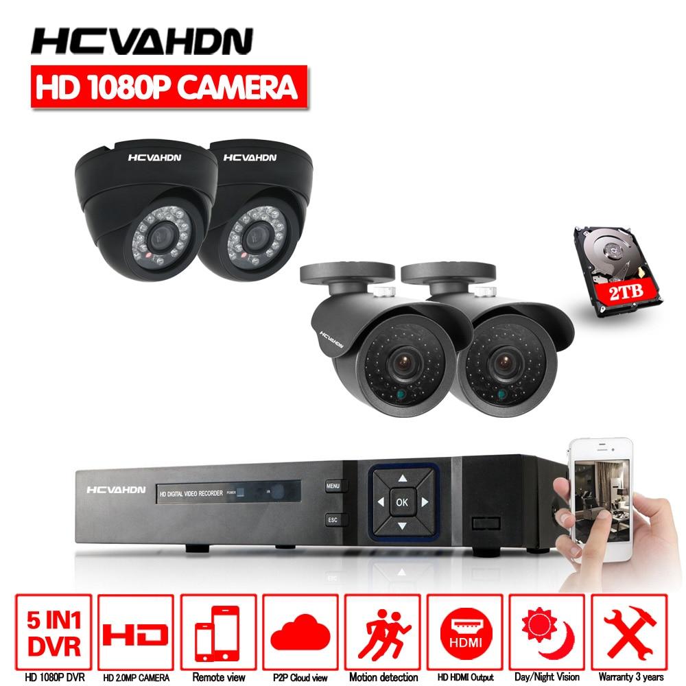 8CH// 4CH 1080N DVR HDMI 4x 720P 1500TVL Security Camera System IR Outdoor Remote