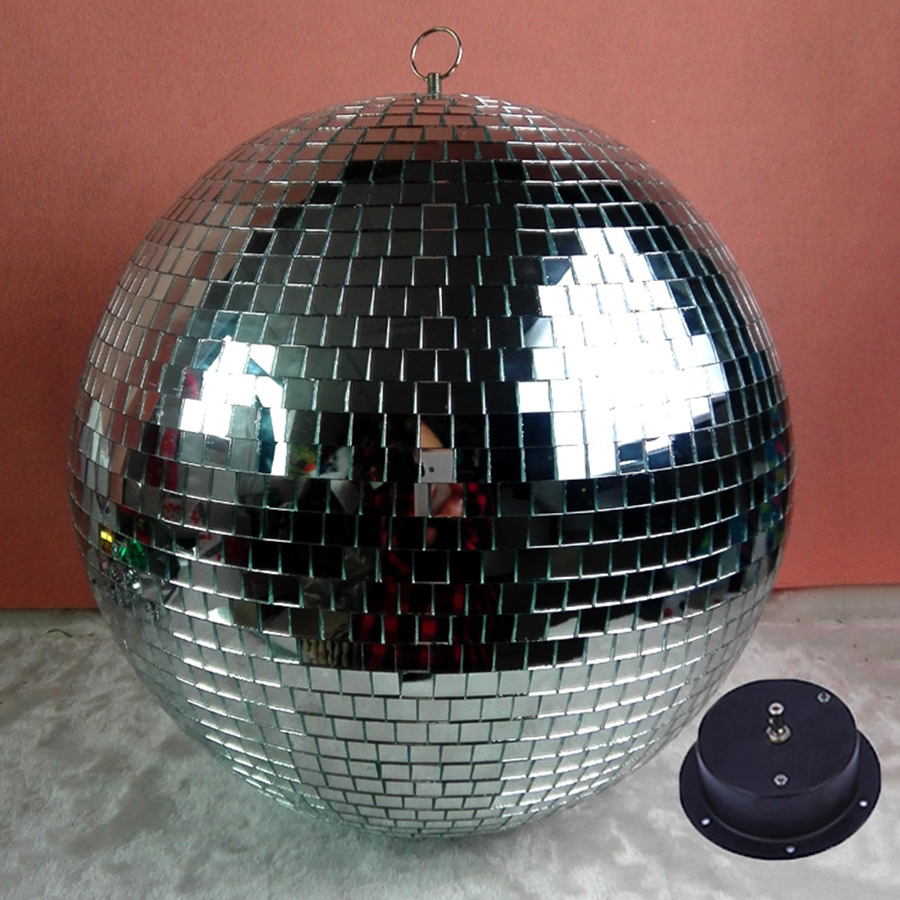BEIAIDI Dia15CM 20CM 25CM Hanging Glass Rotating Disco Mirror Ball With AC Motor Wedding Party KTV Disco LED Stage light colorfull light mirror reflection glass ball stage festival hanging ball motor 10inch 19cm