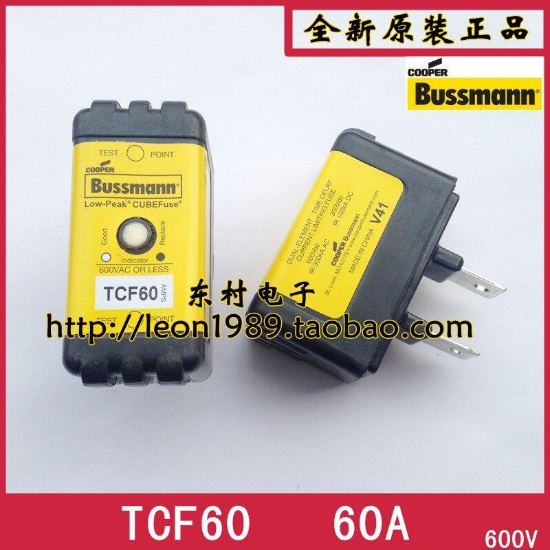 [SA]Eaton EATON Bussmann Fuses TCF60 60A 600V delayed fuse with instructions [sa]eaton eaton bussmann fuses 170m2670 350a 690v fast acting fuses
