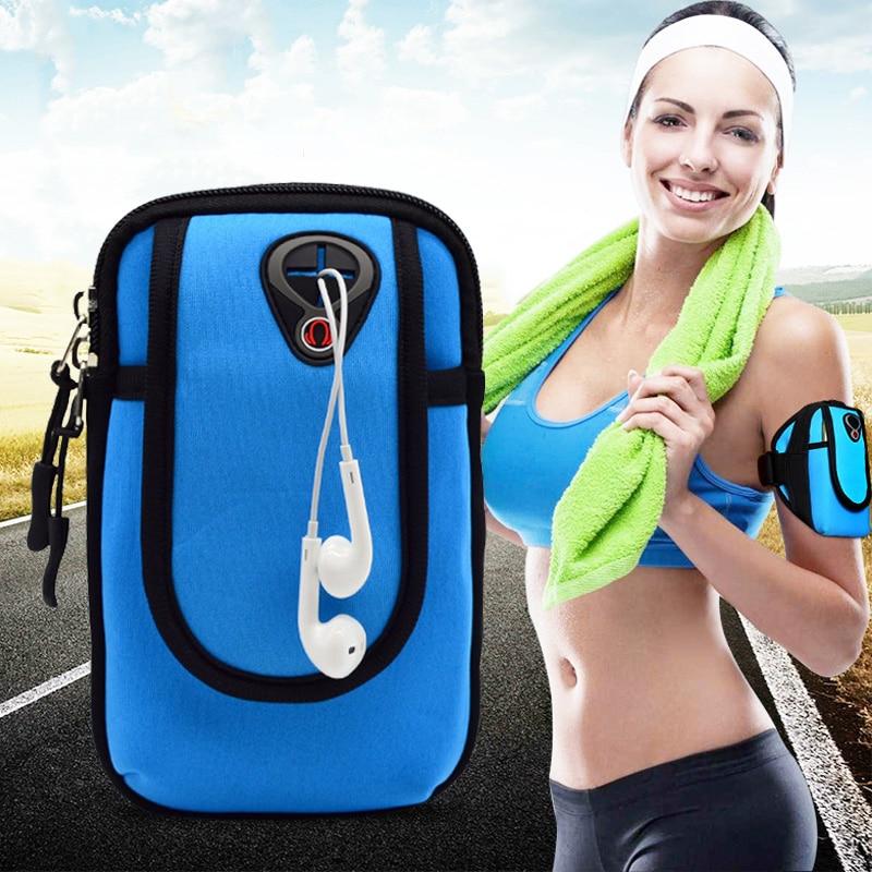 6 дюймов повязки для iPhone 7 Plus 8 Plus спортивный зал Телефон повязку для samsung Galaxy S8 S7 край S9 Дело Arm пояс Сумка