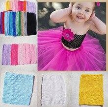 Retail 12 Inch Tutu Crochet Tube Top Baby Stretch Colored Tutu Headband Free Shipping