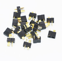 Black T Plug Connectors Male/Female for Deans For RC Lipo Battery Helicopter