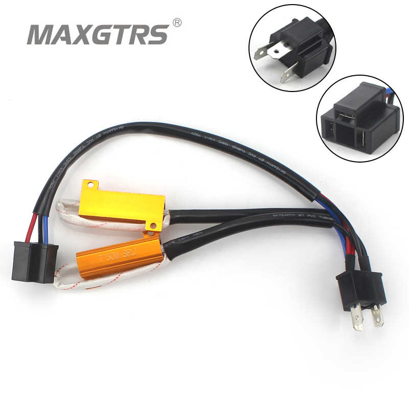 2x H1 H3 H4 H7 H8 H11 9005 9006 9007 H13 H16 50W Car LED Turn Singal Load Resistor Canbus Error Free Wiring Canceller Decoder