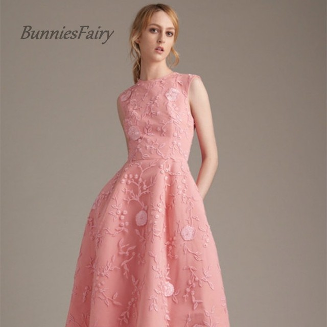 Bunniesfairy 2017 audrey hepburn style princess 3d flower embroidery bunniesfairy 2017 audrey hepburn style princess 3d flower embroidery pink organza girls dress bridesmaid formal gown mightylinksfo