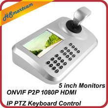 CCTV 5 inch HD LCD PTZ Speed Dome Camera Keyboard 3D Dimension Joystick Keyboard Controllers For