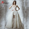 New vestidos de novia A-line Long Sleeve Zuhair Murad Lace Wedding Dresses Luxury Appliques Sheer Neckline Vintage Wedding Gowns