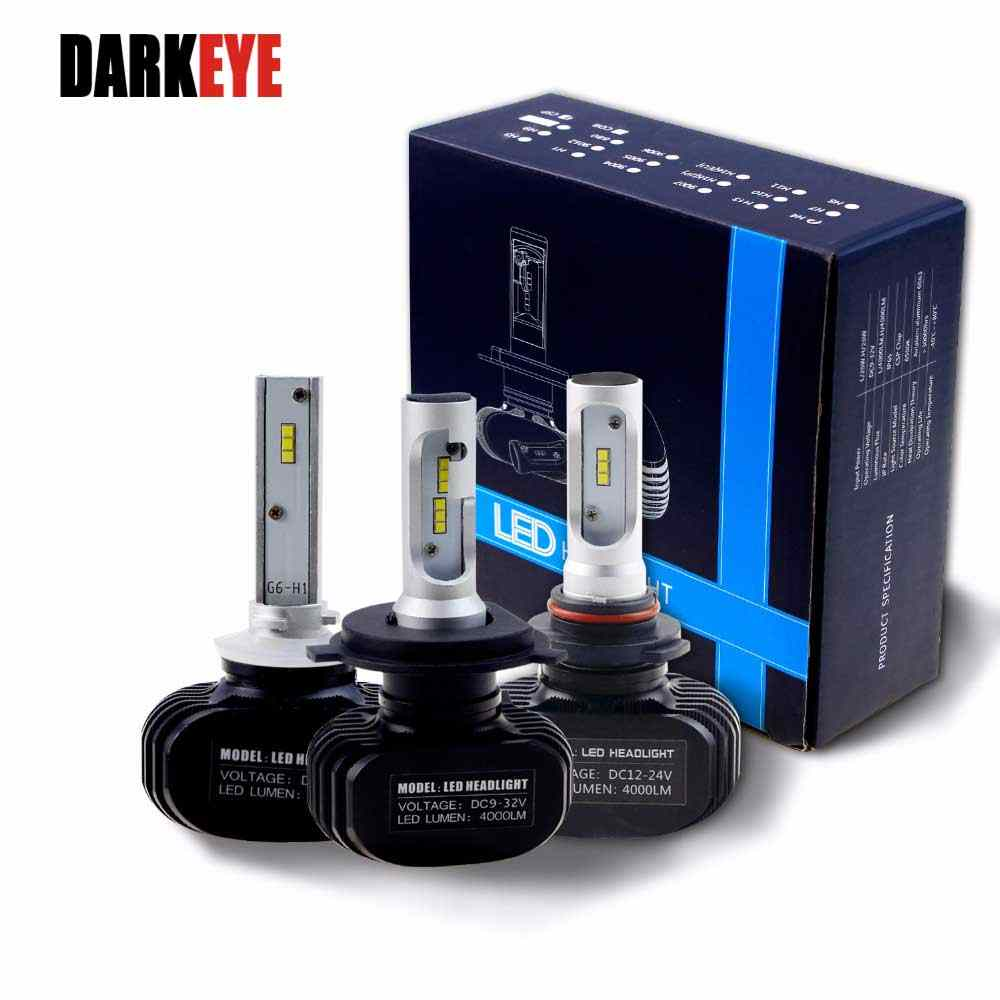 LED H7 Car Headlight H11 H1 9005 HB3 9006 HB4 Led H4 9007 Car Bulb 6500K CSP Chip 2pcs 50W 8000lm Fanless LED Lamp All in one EJ