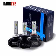 LED H7 Car Headlight H11 H1 9005 HB3 9006 HB4 Led H4 9007 Car Bulb 6500K CSP Chip 2pcs 50W 8000lm Fanless LED Lamp All in one EJ(China)