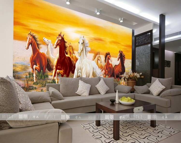 Online Shop Hot Can Customized Home Decor Large Mural Modern 3d Horse  Figure Wallpaper Wall Covering Fresco Tv Sofa Background Chinese Style |  Aliexpress ...