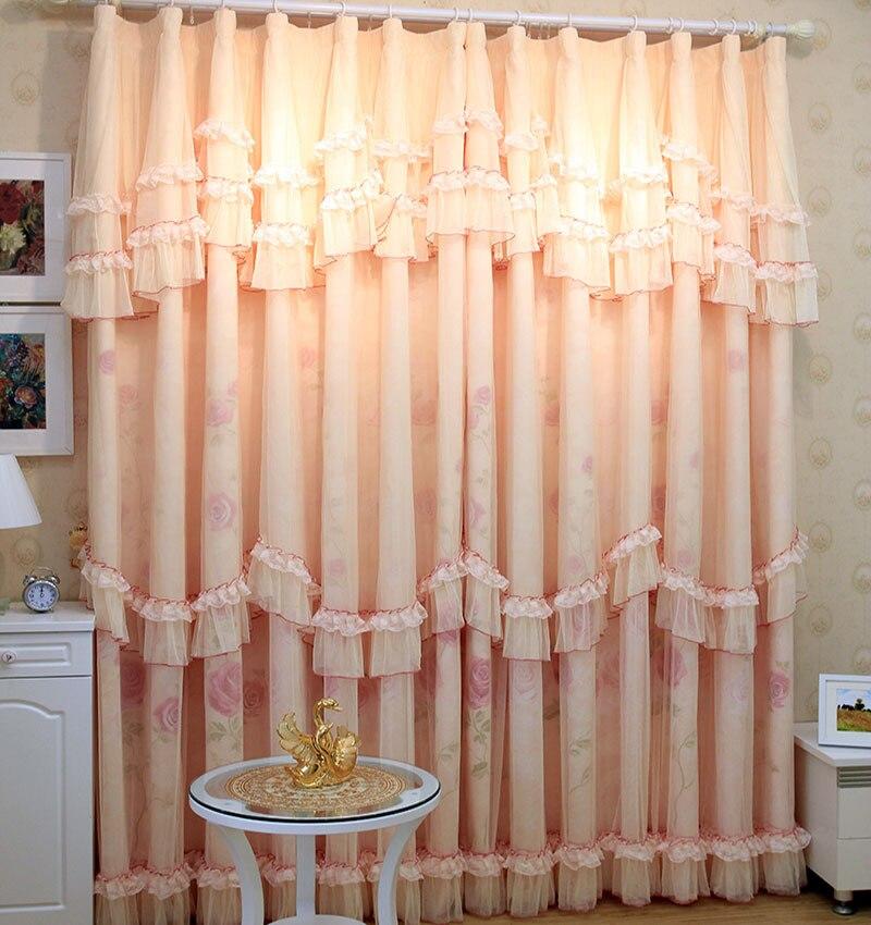 Stores romains de luxe la chaîne coréenne de tulle le rideau shalian dentelle rideau qualité chambre fenêtre rideaux pour salon - 2