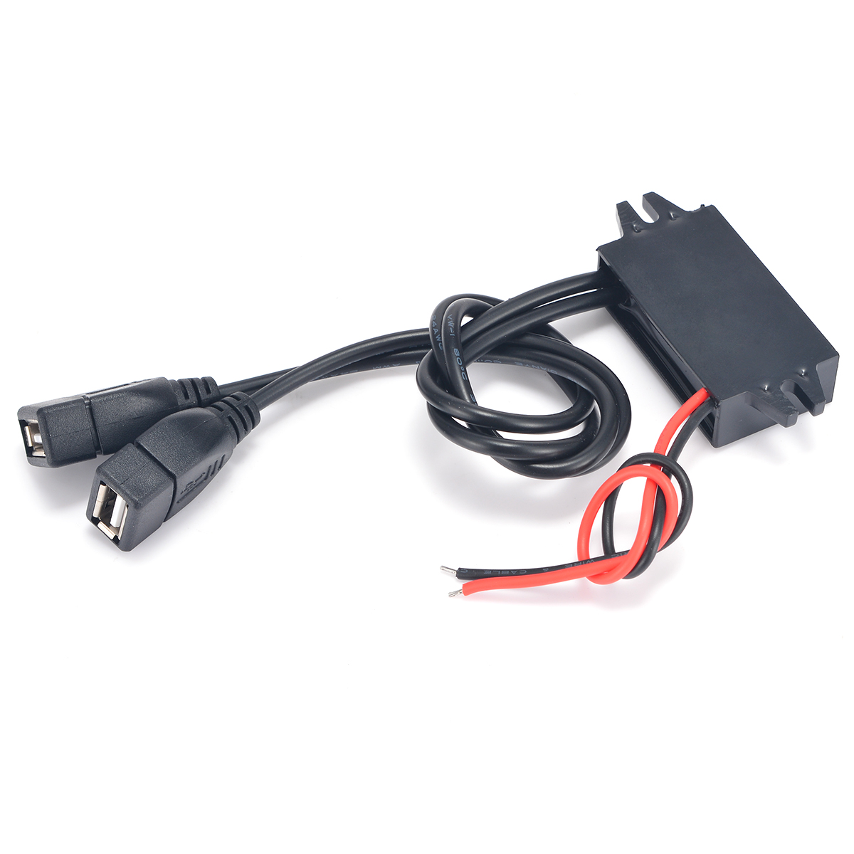 Electrical 12V To 5V Car Dual USB Power Converter Module Cable Adapter Connector Car Motor 3A Charger