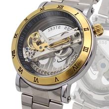 Heren Прочие Часы SHENHUA 2016 Мода 9584 Автоматический Механизм Механические Мужские Часы Мужчина Wristwatche Relogio Masculino