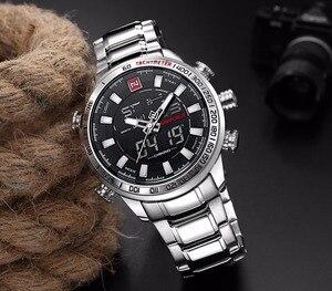Image 5 - Naviforce mens 시계 쿼츠 아날로그 럭셔리 패션 스포츠 손목 시계 방수 스테인레스 남성 시계 시계 relogio masculino