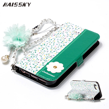 Floral Flower Leather Case For iPhone 5 5s SE Book Flip Cover Wallet Card Case For iPhone 6 6s 7 8 Plus X XR XS Max Hand Chain