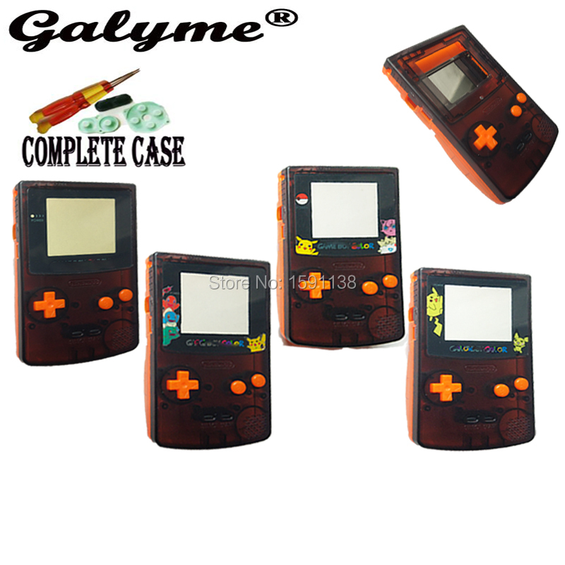 Hot Full Set Plastic Case Cartoon Pattern Limited Lens Housing Shell Cover For GameboyColor Game Console GBO DMG Boy Advance