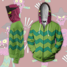 Rick and Morty Hoodie Costumes Sweatshirts Anime 3d Digital Printing Cosplay Zipper Clothing