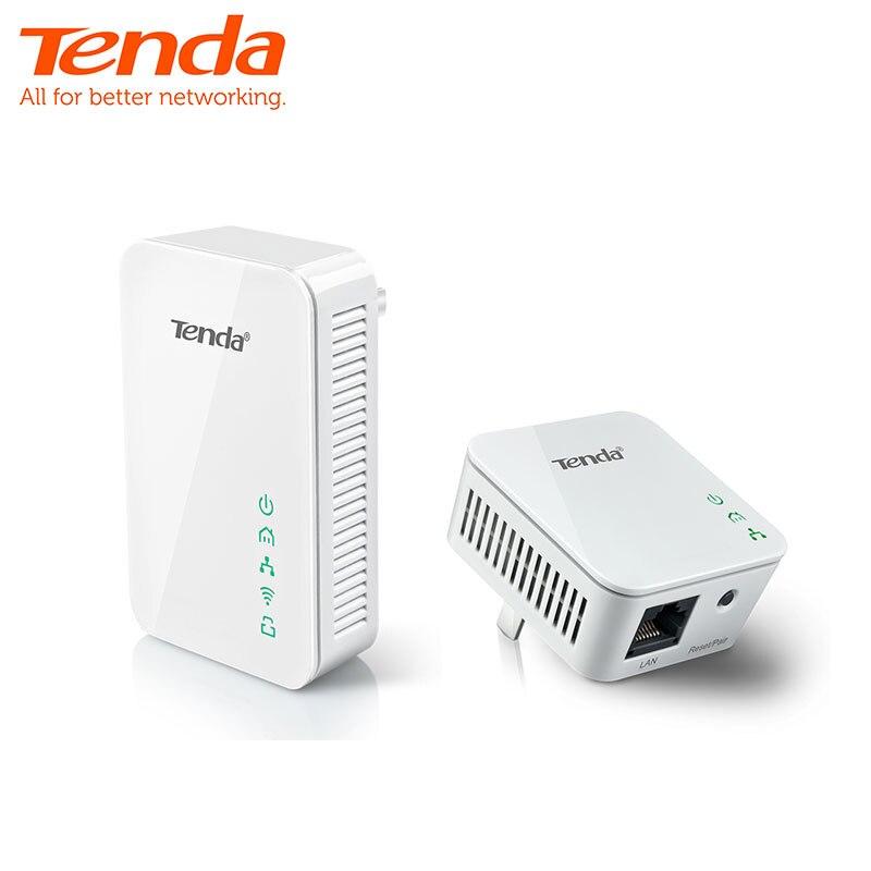 Tenda P202 + PA202 Mini adaptateur Ethernet 300 Mbps PowerLine, adaptateur PLC, Compatible avec routeur Wifi sans fil, IPTV, Plug and Play