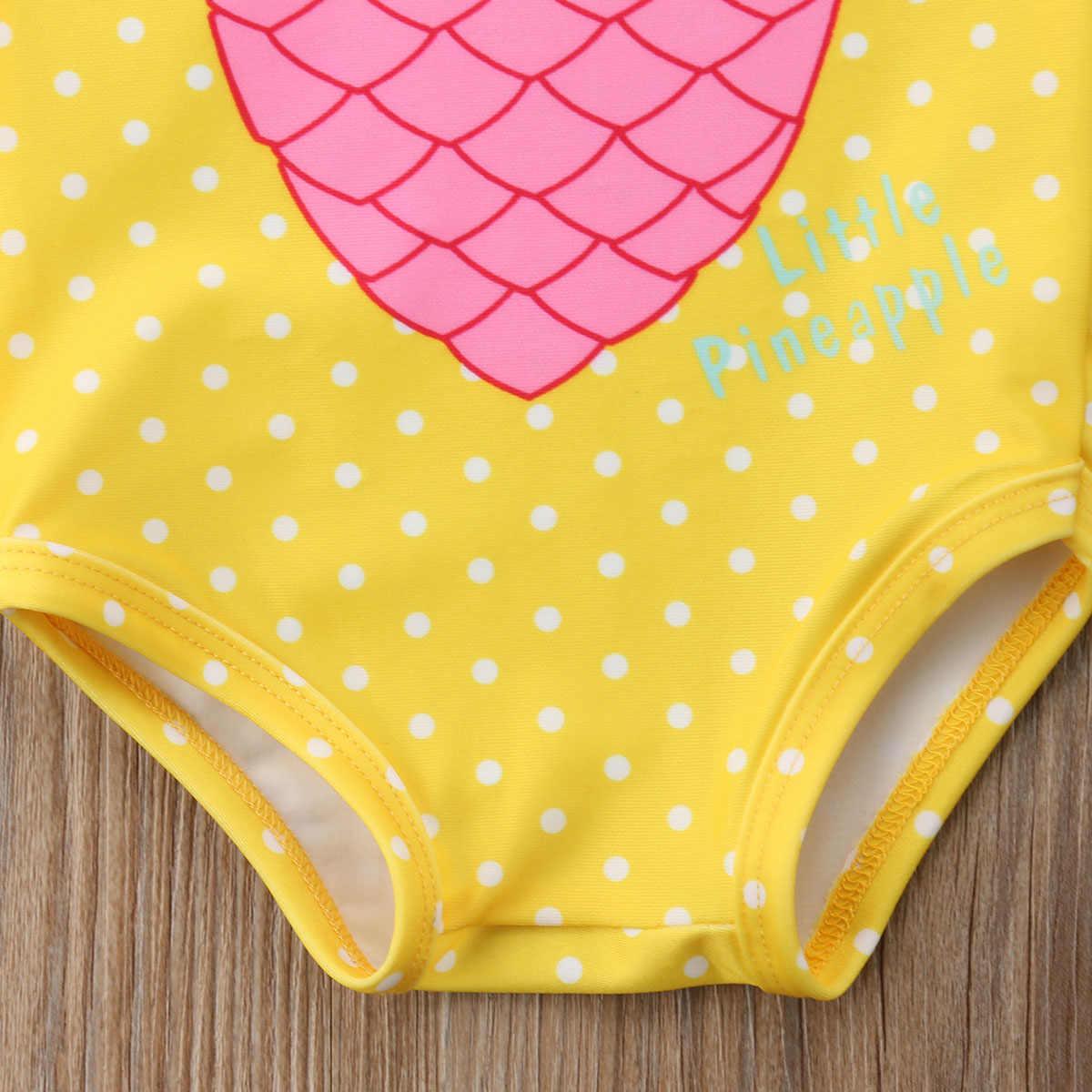 1-7Y เด็กทารกสับปะรดพิมพ์ชุดว่ายน้ำเด็กวัยหัดเดินชุดว่ายน้ำ Beachwear เด็กทารกเสื้อผ้าเด็กชุดว่ายน้ำฤดูร้อน