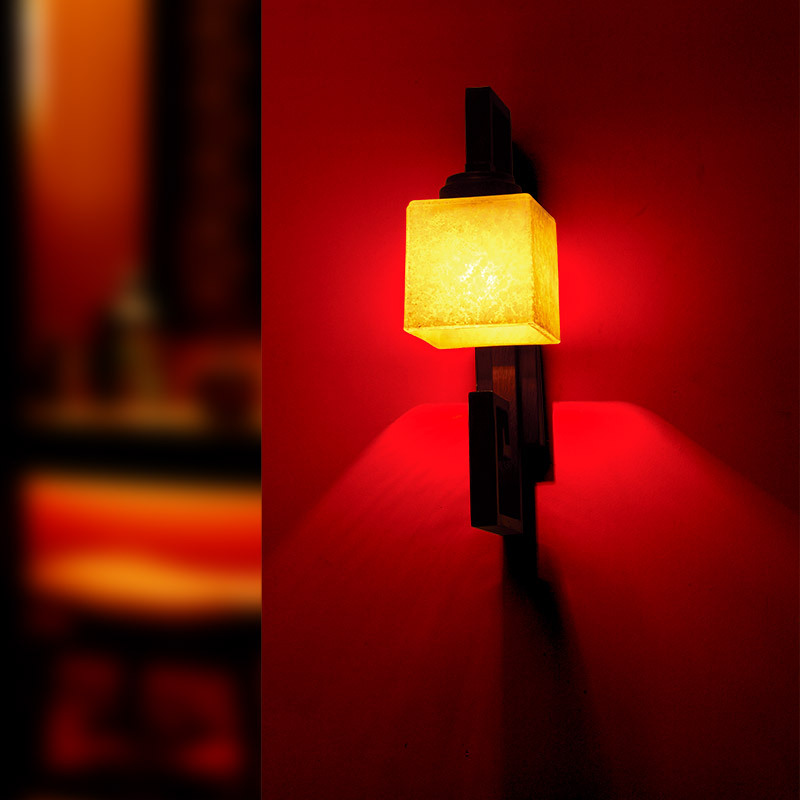 ФОТО New chinese style wall lamp wrought iron modern brief chinese style lamp bed-lighting stair wall lamp