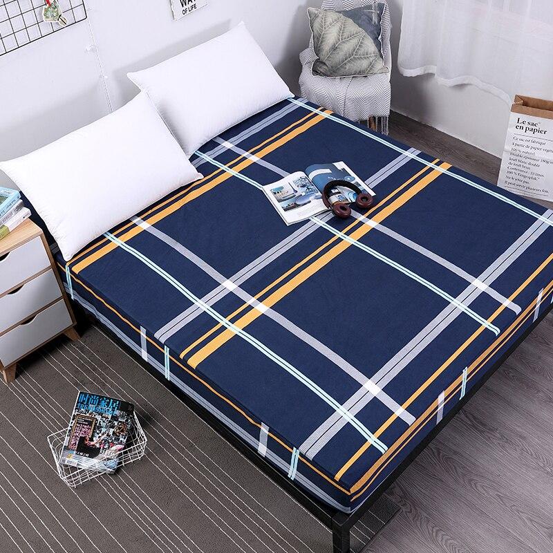 MECEROCK Neue Druck Bett Matratzenbezug Wasserdichte Matratzenschoner Pad Spannbetttuch Getrennt Wasser Bettwäsche mit Elastischen