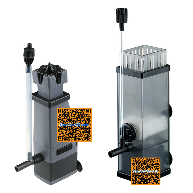 SUNSUN 3W surface protein skimmer oil remover film,add oxygen,adjustable air flow water flow for saltwater aquarium fish tank