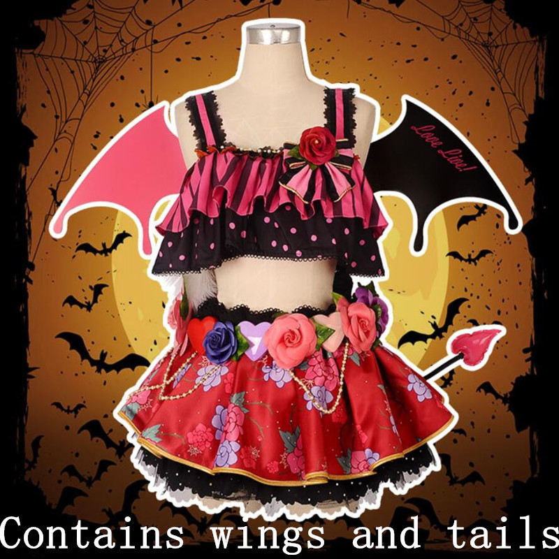 Hot Anime Love Live cosplay Cartoon Hoshizora Rin cos Halloween Masquerade party woman cosplay little devil awakening costume-in Anime Costumes from Novelty & Special Use    1