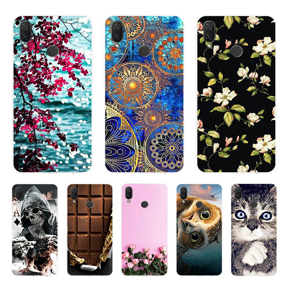 silicone case for huawei Nova 3 3i 3e case soft TPU cover for Nova3 nova3i INE LX2 INE LX9 funda Back cover protective Coque-in Fitted Cases from Cellphones & Telecommunications