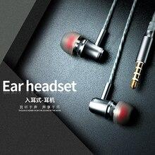 Qijiagu 50 pcs HD Estéreo Super Bass Fones de ouvido Plugue de 3.5mm fone de Ouvido Com Fio Fones De Ouvido com Microfone para Todos Inteligente telefones computador PC