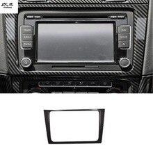 1 шт., автомобильные наклейки, АБС углеродное волокно, зерно, Центральная панель управления навигацией, декоративная крышка для 2009-2013 Volkswagen VW golf 6 MK6