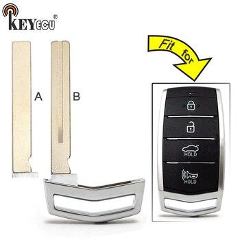 KEYECU 10x for Hyundai Genesis G80 2017 2018 Replacement Smart Prox Emergency Car Key Remote Insert Blade Blank Case Fob