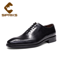 Sipriks Mens Leather Shoes Luxury Brand Italian Custom Goodyear Welted Shoes Rubber Sole Formal Tuxedo Shoes European Dress Shoe