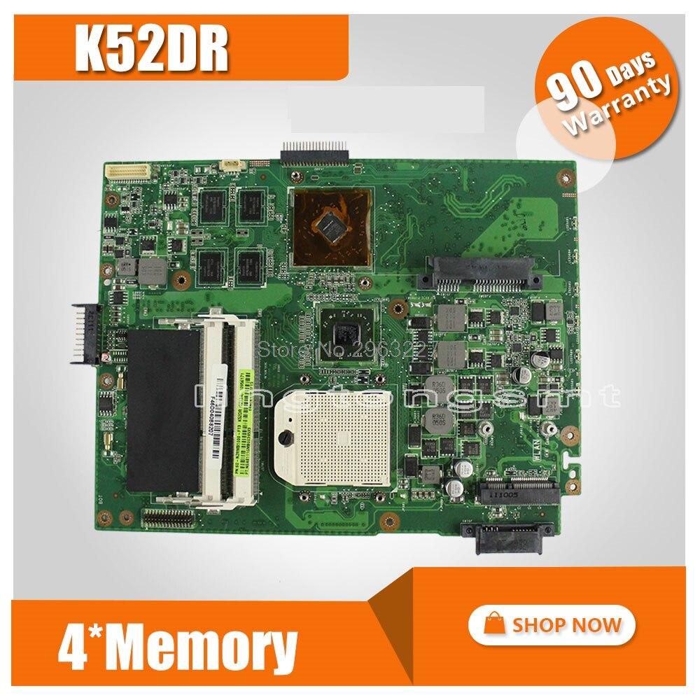 K52DR Carte Mère 512 M Pour ASUS A52D K52DE K52D K52DY X52D mère D'ordinateur Portable K52DR Carte Mère K52DR Carte Mère