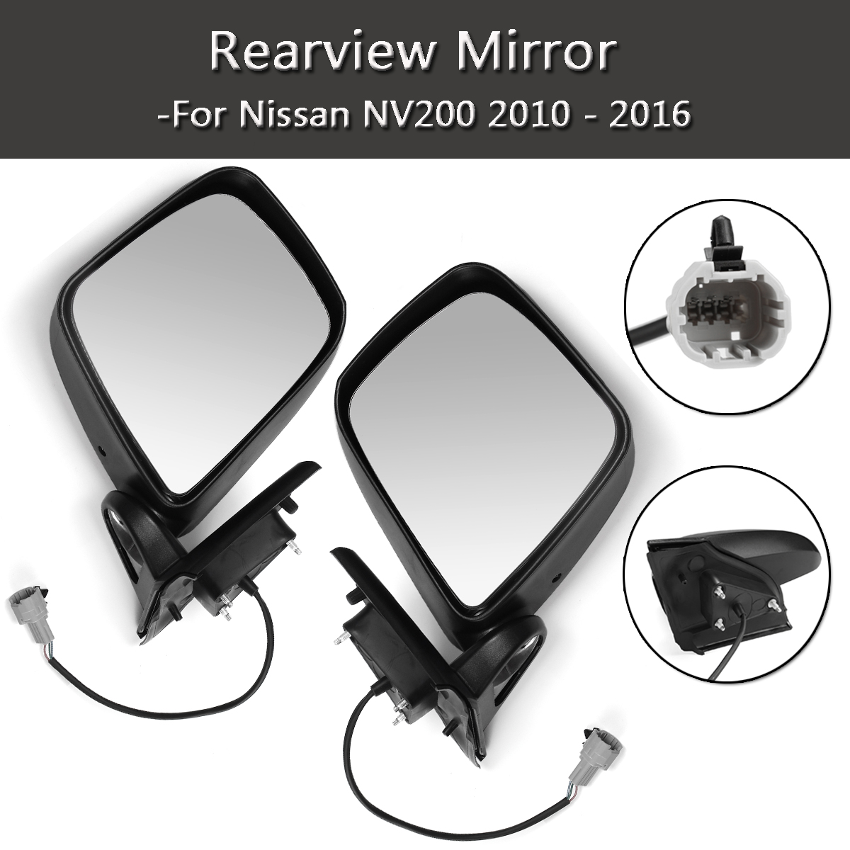 New Left/Right For Nissan NV200 2010-2016 Car Rearview Mirror Car Driver Side Rear View Mirror Passenger Side Electric Rear View daker challenger side mirror pajero sport rear mirror native back mirror