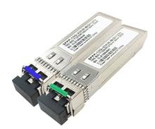 SFP 5 para 10G BIDI 20KM T1310/R1270 LC SFP moduł mini fiber GBIC nadajnik odbiornik sfp jednomodowy pojedynczy moduł światłowodowy SFP